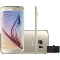 "Smartphone Samsung Galaxy S6 32GB 4G - Câm. 16MP + Selfie 5MP Tela 5.1"" + Dual Drive 32GB"
