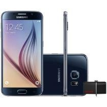 "Smartphone Samsung Galaxy S6 32GB 4G - Câm. 16MP + Selfie 5MP Tela 5.1"" + Dual Drive 64GB"
