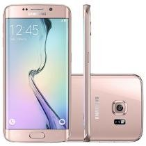 "Smartphone Samsung Galaxy S6 Edge 4G - Câm. 16MP Tela 5.1"" Android Proc. Octa-Core"