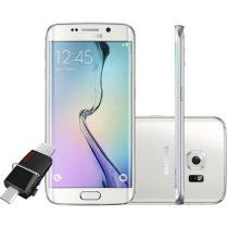 "Smartphone Samsung Galaxy S6 Edge 64GB 4G - Câm. 16MP + Selfie 5MP Tela 5.1"" + Pen Drive 16GB"