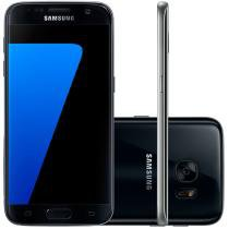 "Smartphone Samsung Galaxy S7 32GB Preto 4G - Câm 12MP + Selfie 5MP Tela 5.1"" Quad HD Octa Core"