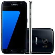 "Smartphone Samsung Galaxy S7 32GB Preto 4G - Câm. 12MP + Selfie 5MP Tela 5.1"" Quad HD Octa-Core"