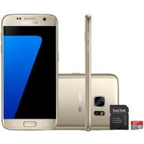"Smartphone Samsung Galaxy S7 32GB Single Chip 4G - Câm. 12MP + Frontal 5MP Tela 5.1"" + Cartão 16GB"