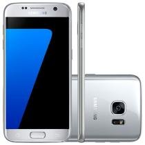 "Smartphone Samsung Galaxy S7 32GB Single Chip 4G - Câm. 12MP + Frontal 5MP Tela 5.1"" Proc. Octa-Core"