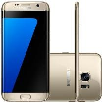 "Smartphone Samsung Galaxy S7 Edge 32GB Dourado 4G - Câm. 12MP + Selfie 5MP Tela 5.5"" Quad HD Octa Core"