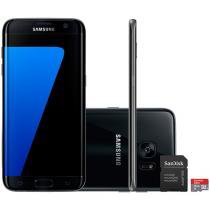 "Smartphone Samsung Galaxy S7 Edge 32GB Single Chip - 4G Câm 12MP + Selfie 5MP 5.5"" + Cartão 16GB"