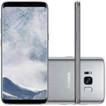"Smartphone Samsung Galaxy S8 64GB Prata Dual Chip - 4G Câm. 12MP + Selfie 8MP Tela 5.8"" Quad HD"