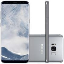 "Smartphone Samsung Galaxy S8+ 64GB Prata Dual Chip - 4G Câm. 12MP + Selfie 8MP Tela 6.2"" Quad HD"