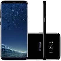 "Smartphone Samsung Galaxy S8+ 64GB Preto Dual Chip - 4G Câm. 12MP + Selfie 8MP Tela 6.2"" Quad HD"