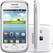 "Smartphone Samsung Galaxy Young Plus TV - Dual Chip 3G Cam. 3MP Tela 3"" Dual Core Desbl. Oi"