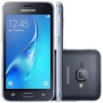 "Smartphone Samsung J1 8GB Preto Dual Chip 3G - Câm. 5MP Tela 4.5"" Proc. Quad Core Android 5.1"