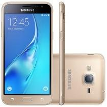 "Smartphone Samsung J3 2016 8GB Dourado Dual Chip - 4G Câm. 8MP + Selfie 5MP 5"" HD Quad-Core Android"