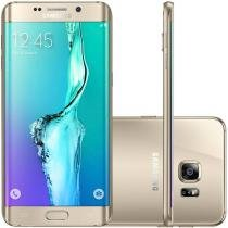 "Smartphone Samsung S6 Edge+ 32GB Dourado 4G - Câm. 16MP + Selfie 5MP Tela 5.7"" Quad HD Octa Core"