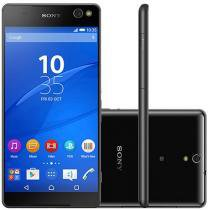 Smartphone Sony Xperia C5 Ultra 16GB Preto - Dual Chip 3G Câm. 13MP + Selfie 13MP Flash Tela 6""