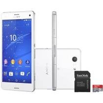 "Smartphone Sony Xperia Z3 Compact 16GB 4G - Câm. 20.7MP Tela 4.6"" Proc. Quad Core Android 4.4"