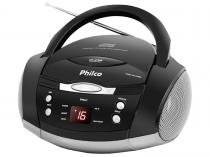 Som Portátil Philco FM 3,4W CD Player - Display Digital PH61 MP3 Player