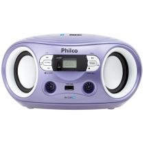 Som Portátil Philco FM 6W Display Digital PB122BTL - Bluetooth Entrada USB MP3 Player