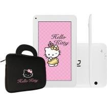 Tablet DL Hello Kitty Tab 4GB Tela 7 Wi-Fi - Android 4.4 Proc. Cortex A9 Câm. 2MP com Bolsa