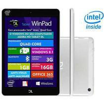 Tablet DL WinPad TP295 16GB Tela 7,85 3G Wi-Fi - Windows 8.1 Proc. Intel Quad Core Câm. Integrada