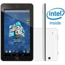 Tablet DL X-Pro Dual 8GB Tela 7 Wi-Fi Android 4.4 - Proc. Intel Dual Core Câm. 2MP + Frontal