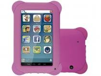 Tablet Multilaser Kid Pad 8GB Tela 7 3G Wi-Fi - Android 4.4 Proc. Quad Core C��m. 2MP + Frontal