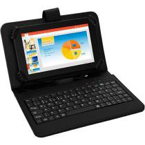 Tablet Multilaser M7S 8GB Tela 7 Wi-Fi Android - 4.4 Proc. Quad Core Câm. 2MP + Frontal com Teclado