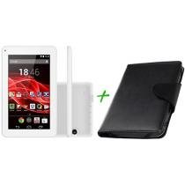 Tablet Multilaser Supra 8GB 7 Wi-Fi Android 4.4 - Proc. Quad Core Câm. Integral + Capa para Tablet
