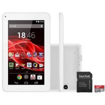 Tablet Multilaser Supra 8GB Tela 7 Wi-Fi - Android 4.4 Proc. Quad Core + Cartão 16GB
