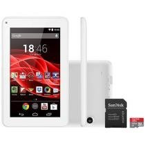 Tablet Multilaser Supra 8GB Tela 7 Wi-Fi - Android 4.4 Proc. Quad Core + Cartão 32GB