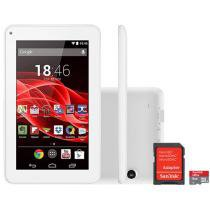 Tablet Multilaser Supra 8GB Tela 7 Wi-Fi - Android 4.4 Proc. Quad Core + Cartão 8GB