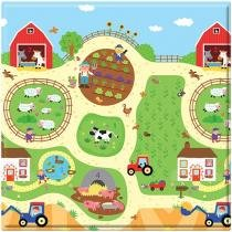 Tapete Infantil Play Mat Busy Farm 1 Peça - 17x17cm Dupla Face Safety 1st
