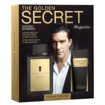 The Golden Secret Eau de Toilette Antonio Banderas - Kit Perfume Masculino 100ml  Pós Barba 100ml - Antonio Banderas