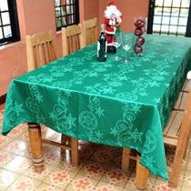 Toalha de Mesa Quadrada Natal 165 Fios 220x220cm