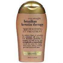 Tratamento p/ Cabelos Volumosos 100ml - Ever Straight Brazilian Keratin Therapy - Organix