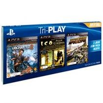Tri-Play Aventura p/ PS3 Sony - Uncharted 2 - Ico & Shadow of the Colossus MotorStorm Apocalypse