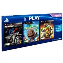 Tri-Play Família p/ PS3 Sony - Gran Turismo 5 - Little Big Planet 2 Ratchet & Clank All 4 One