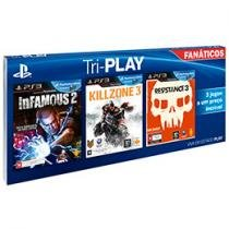 Tri-Play Fanáticos p/ PS3 Sony - Infamous 2 Killzone 3 Resistance 3