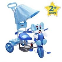 Triciclo Ratinho 2 em 1 Azul com Msica