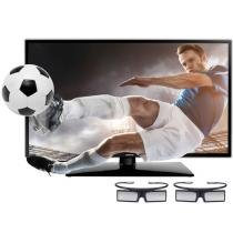 "TV 3D LED 40"" Samsung UN40F6100 Full HD 1080p - Conversor Integrado 2 HDMI 1 USB 2 Óculos 3D 120Hz"