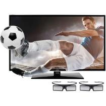 "TV 3D LED 46"" Samsung UN46F6100 Full HD 1080p - Conversor Integrado 3 HDMI 1 USB 240Hz"