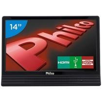 TV LED 14 Philco PH14E10D - Conversor Integrado 1 HDMI 1 USB