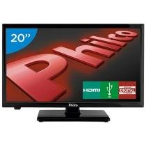 TV LED 20 Philco PH20U21D - Conversor Digital 2 HDMI 1 USB