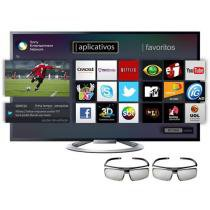 "TV LED 3D 55"" Sony KDL-55W805A Full HD 1080p - Conversor Integrado 4 HDMI 3 USB 4 Óculos 3D 480Hz"