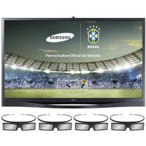 "TV Plasma 3D 64"" Samsung PL64F8500 Full HD 1080p - Conversor Integrado 4 HDM 3 USB DLNA 600Hz"