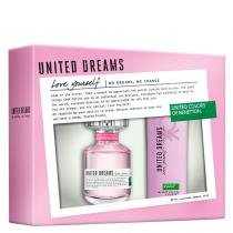United Dreams Love Yourself Eau de Toilette Benetton - Kit - Perfume Feminino 80ml + Desodorante 150ml