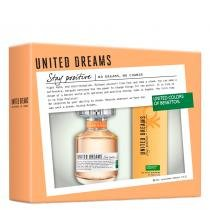 United Dreams Stay Positive Eau de Toilette Benetton - Kit - Perfume Feminino 80ml + Desodorante 150ml