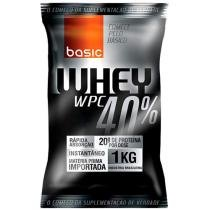 Whey Protein 40% 1kg Chocolate - Basic Nutrition