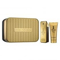 1 Million Eau de Toilette Paco Rabanne - Kit de Perfume Masculino 100ml Gel de Banho 100ml 9454020