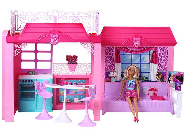 Barbie reality casa com boneca 2013 mattel bonecas e - Supercasa de barbie ...