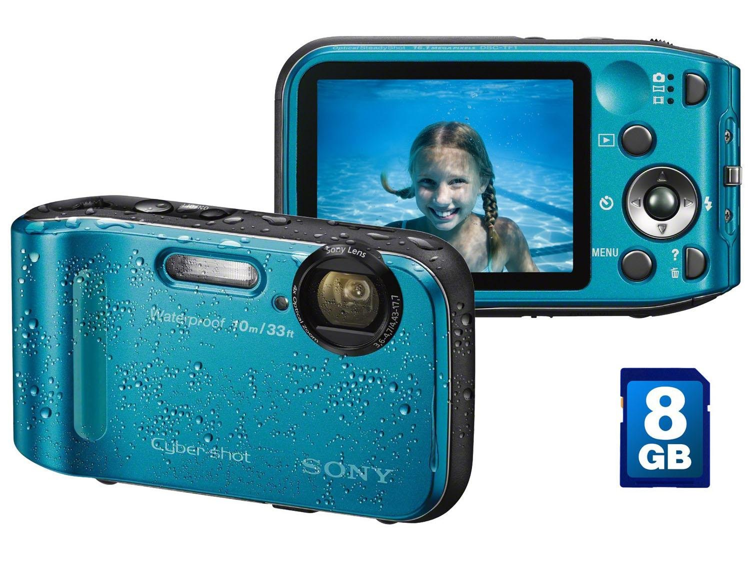 "Câmera Digital Sony Cyber-Shot DSC-TF1 16.1MP - LCD 2,7"" Zoom Óptico"